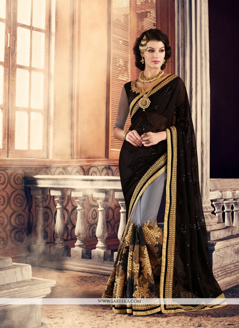 Black Trendy Saree
