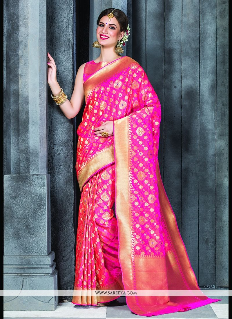 5e7c5b955c Patch Border Work Banarasi Silk Classic Designer Saree -