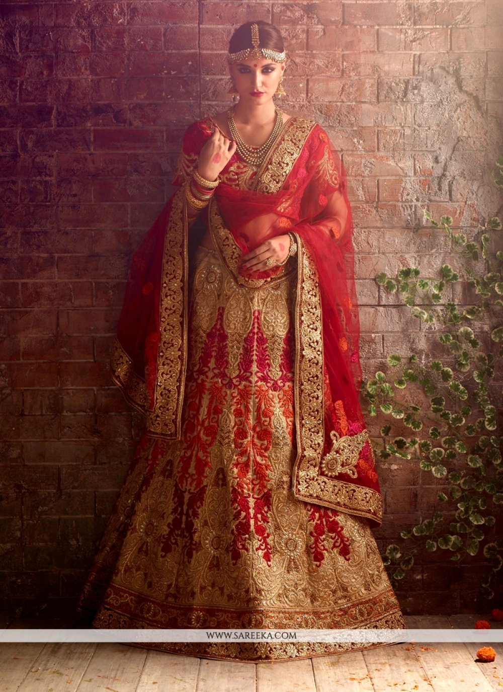 Raw Silk Embroidered Work A Line Lehenga Choli