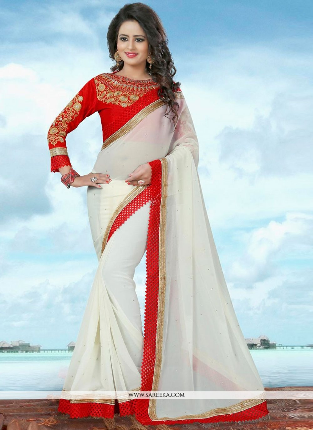 Banglori Silk Off White Trendy Saree