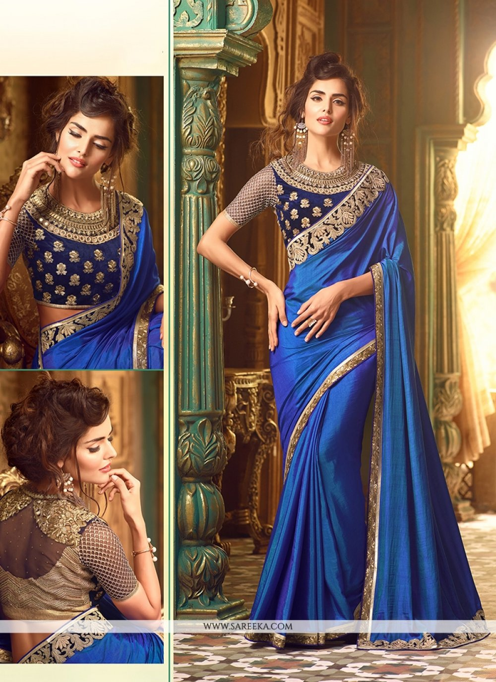 Silk Embroidered Work Classic Designer Saree
