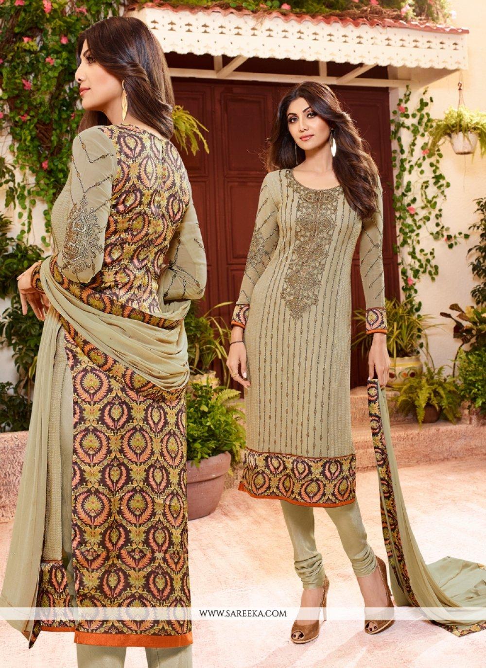 Shilpa Shetty Georgette Churidar Designer Suit
