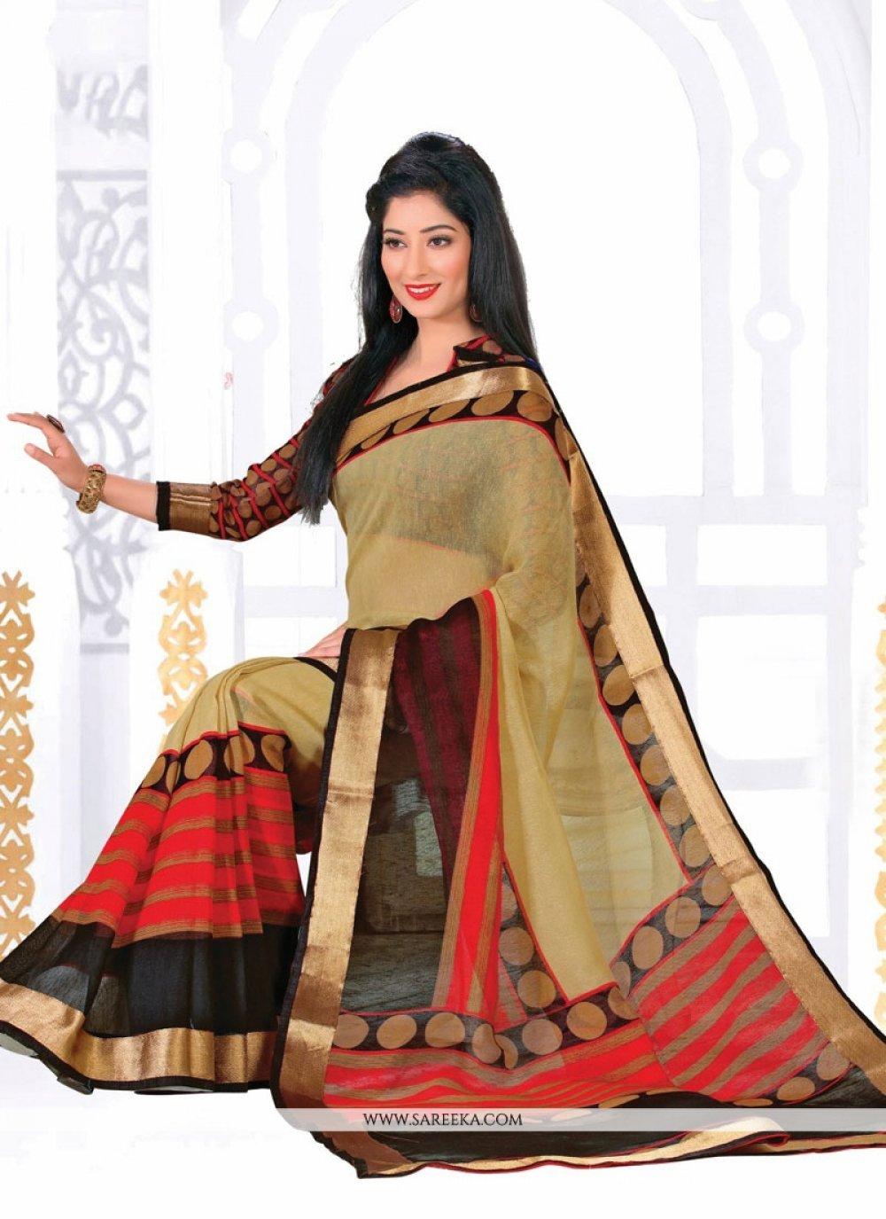 Print Work Silk Casual Saree