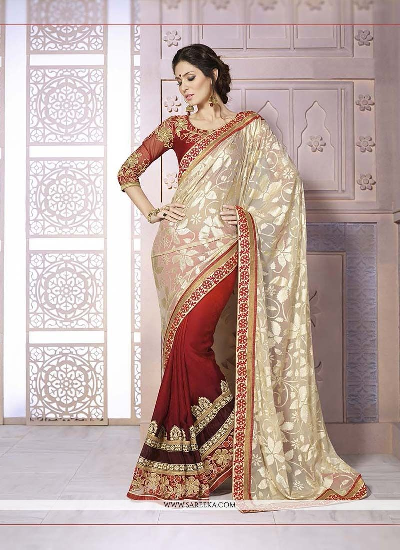 Brasso Georgette Embroidered Work Classic Designer Saree