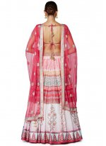 Lace Work Pink Designer Replica Lehenga Choli