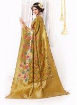Banarasi Silk Patch Border Work Designer Traditional Sarees