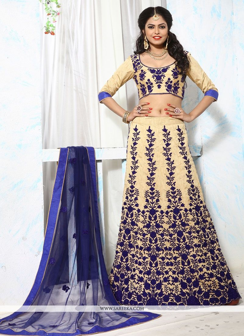 defde0c0b5 Buy Banglori Silk Patch Border Work Lehenga Choli Online : 49900 -