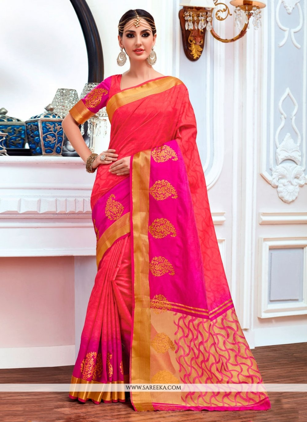 Multi Colour Jacquard Designer Saree