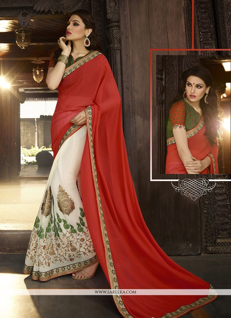 Red Classic Designer Saree