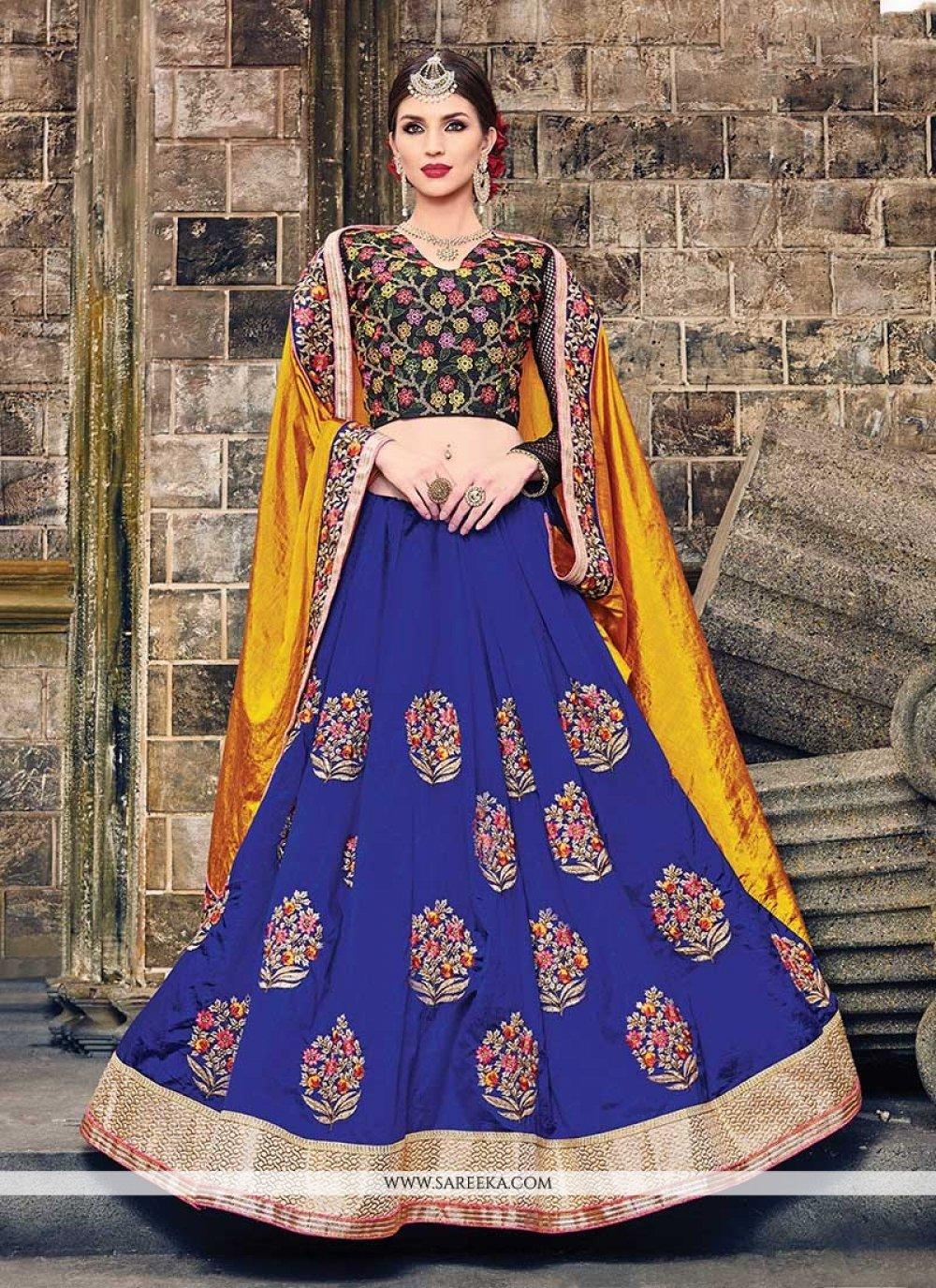 Art Silk Blue Designer Traditional Sarees