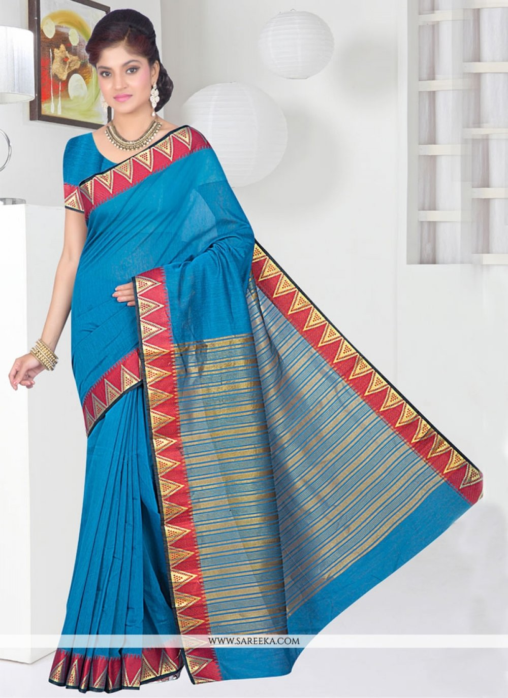 Blue Casual Saree