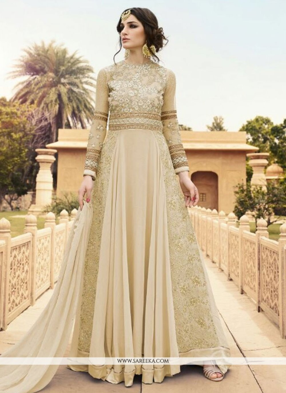 Georgette Designer Floor Length Suit