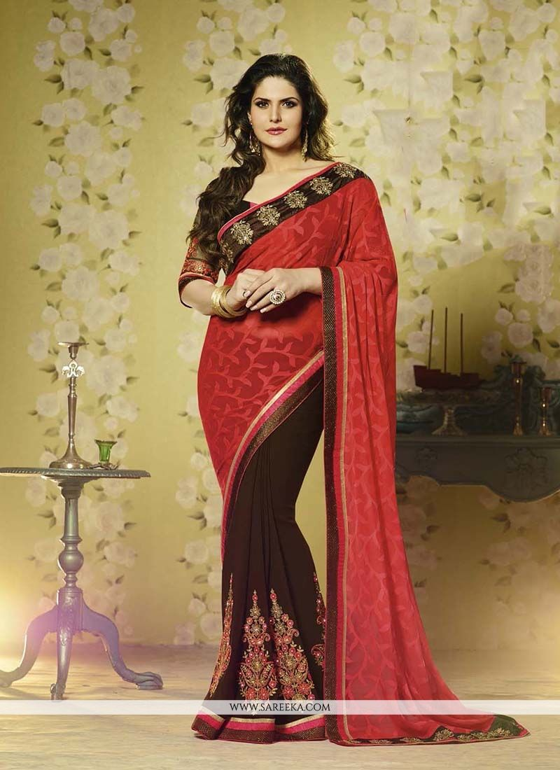 Brasso Embroidered Work Designer Saree
