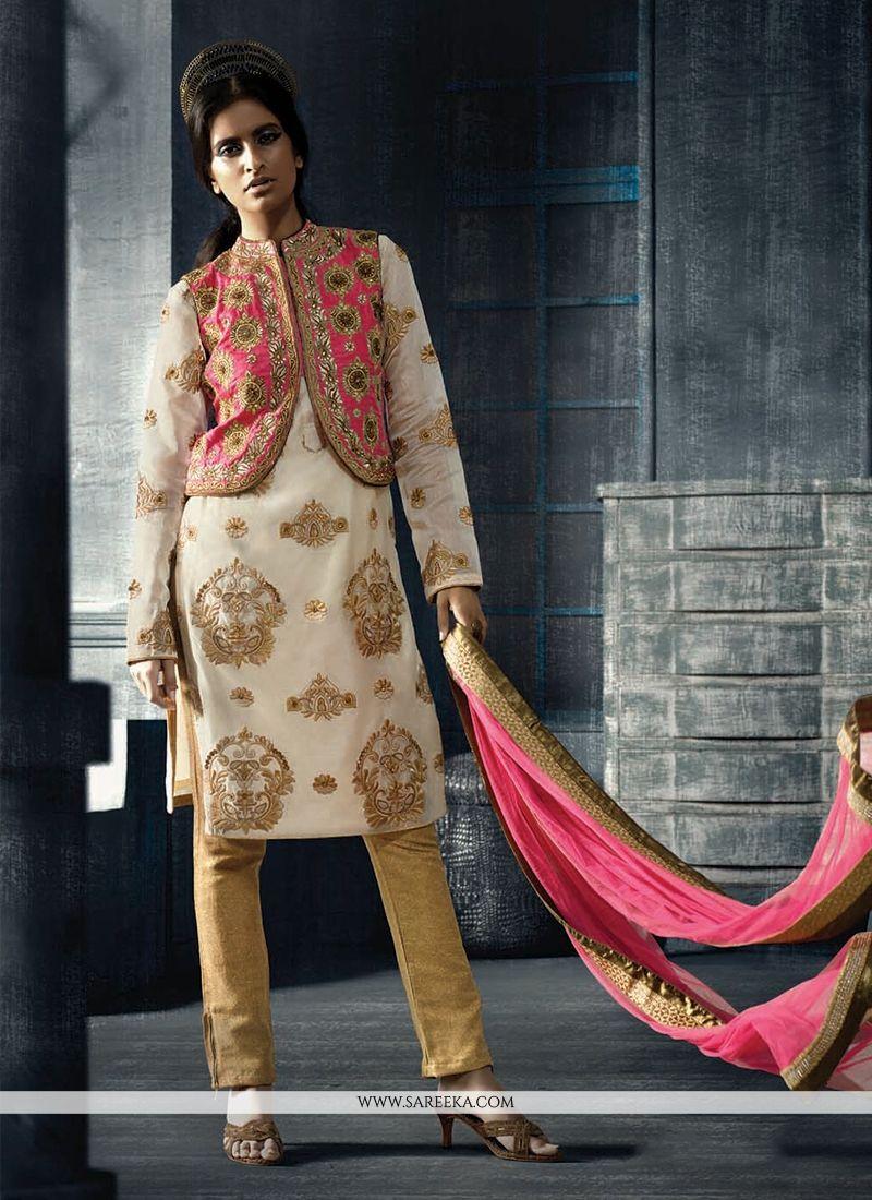 Embroidered Work Multi Colour Designer Suit
