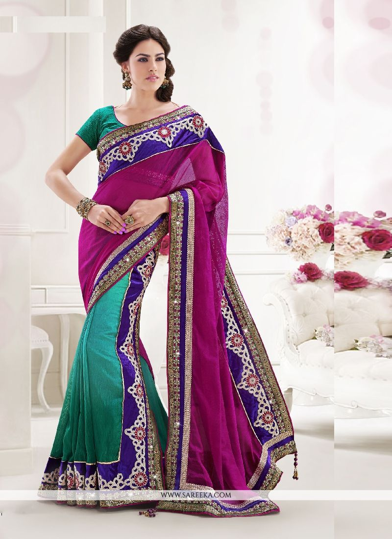 Cotton   Patch Border Work Lehenga Saree