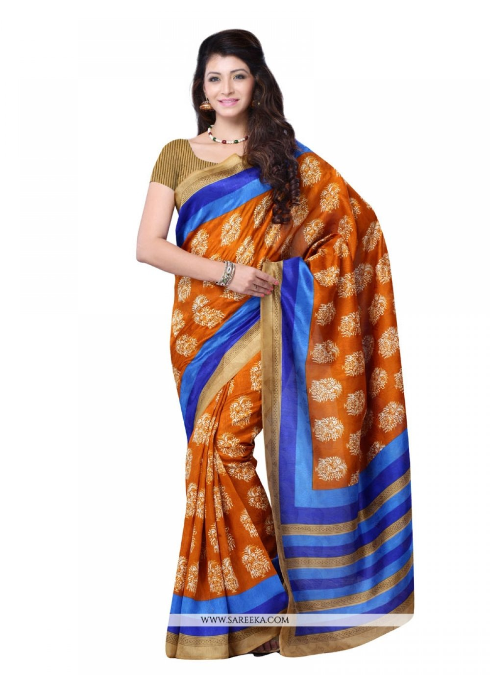 Talismanic Print Work Casual Saree