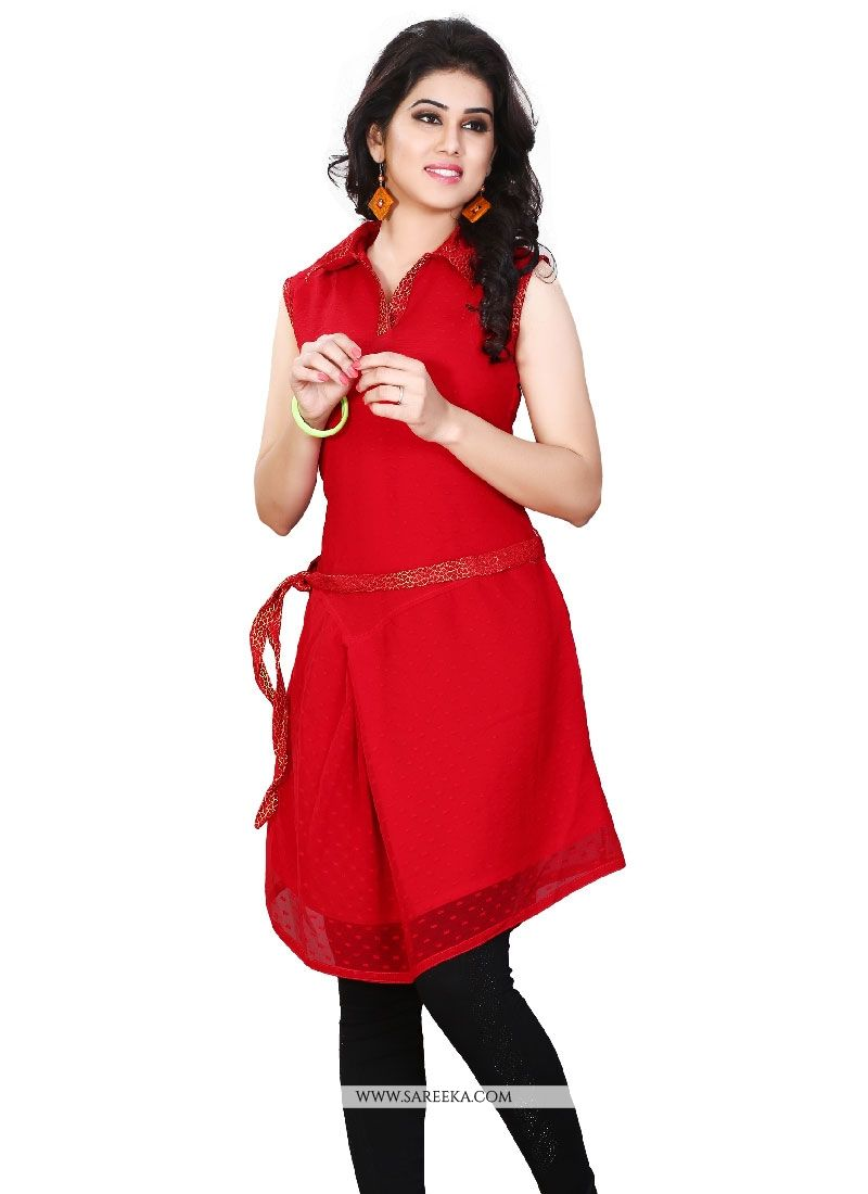 Plain Work Casual Kurti