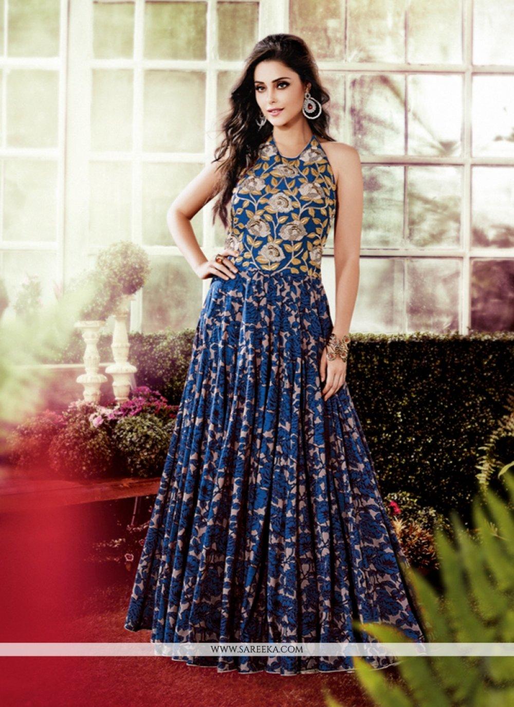 Cotton   Multi Colour Designer Gown