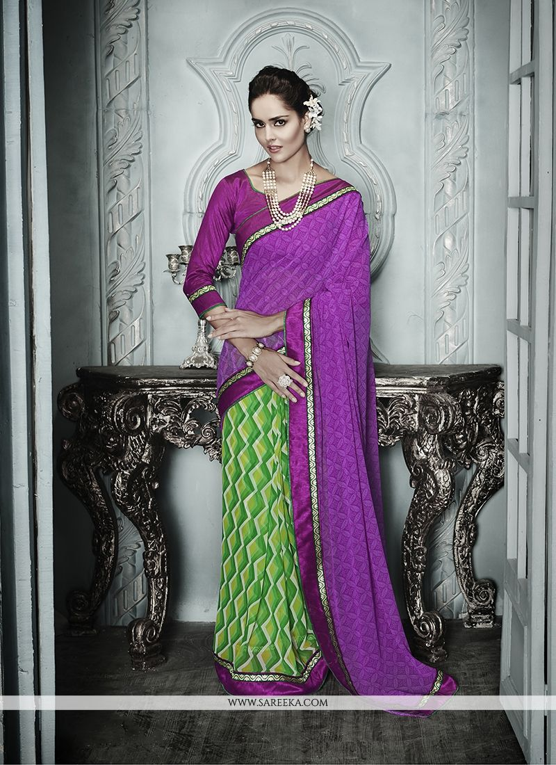 Print Work Multi Colour Designer Saree