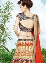 Silk Multi Colour A Line Lehenga Choli