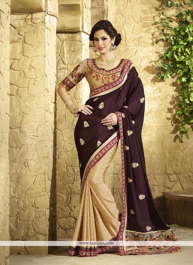 Jacquard Embroidered Work Classic Designer Saree
