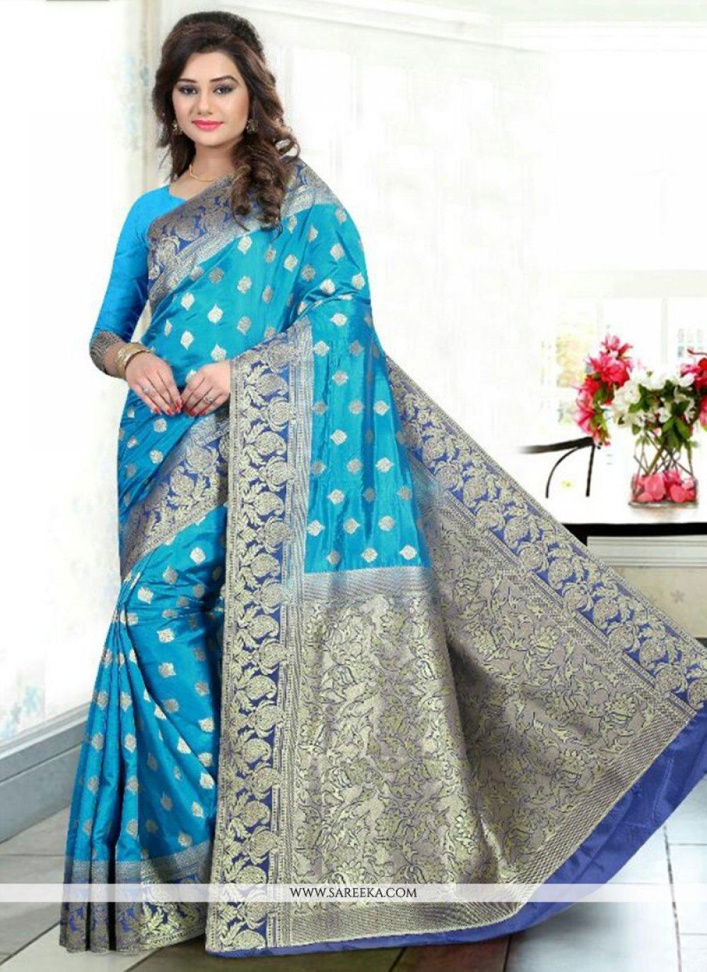 Banglori Silk Weaving Work Traditional Designer Saree