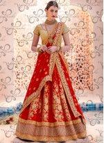 Faux Chiffon Embroidered Work Lehenga Choli