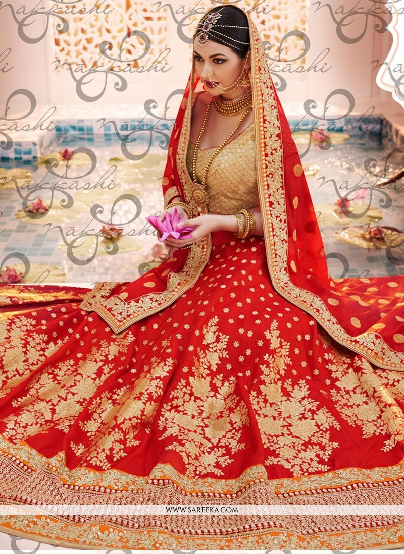 Faux Chiffon Embroidered Work Lehenga Choli
