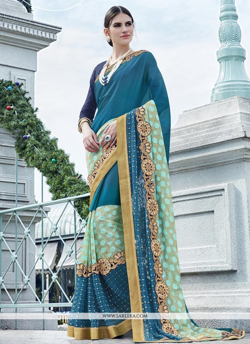 f1b653eb828 Buy Net Lace Work Saree Online   Malaysia -