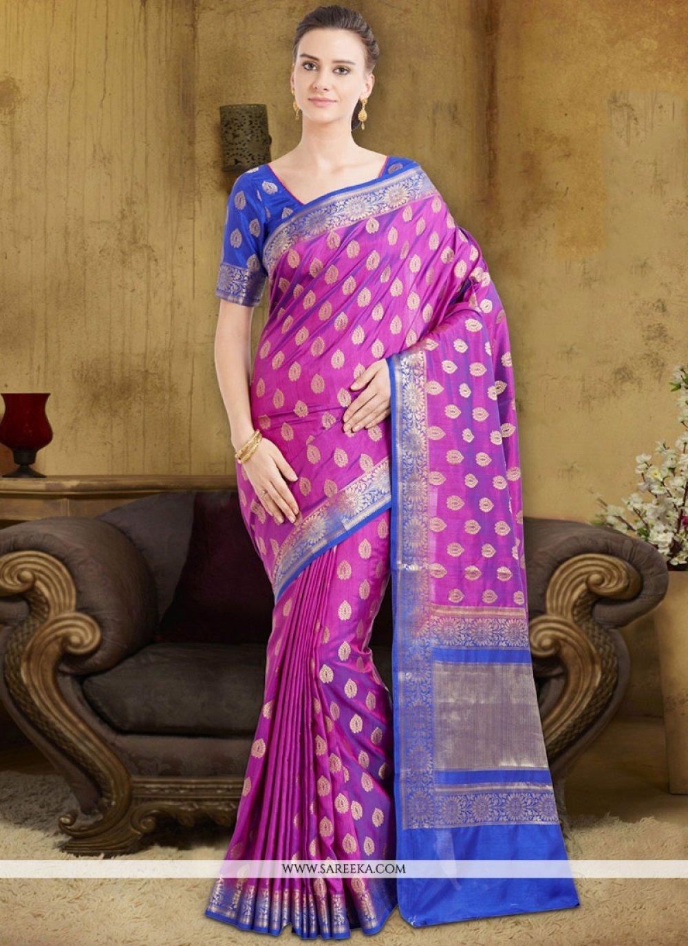 Art Silk Cotton Weaving Work Designer Traditional Saree