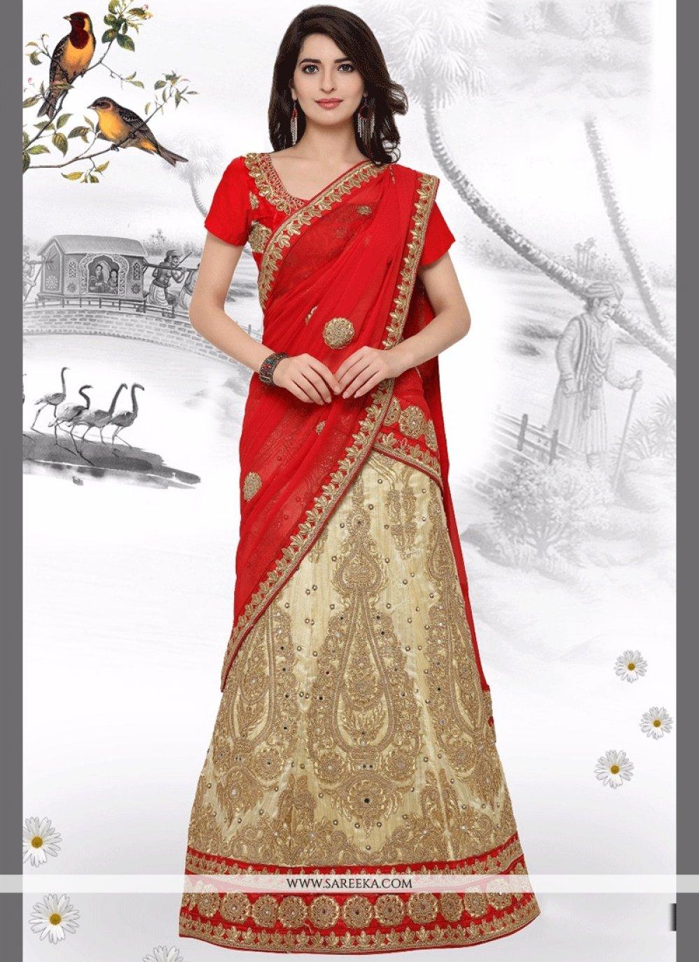 Art Silk Embroidered Work Lehenga Choli