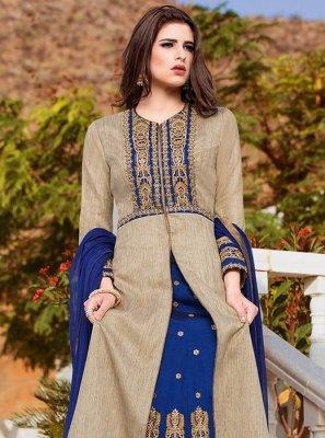 Art Silk Lace Work Long Choli Lehenga