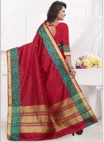 Art Silk Maroon woven Work Designer Traditional Saree