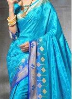 Art Silk Weaving Work Traditional  Saree