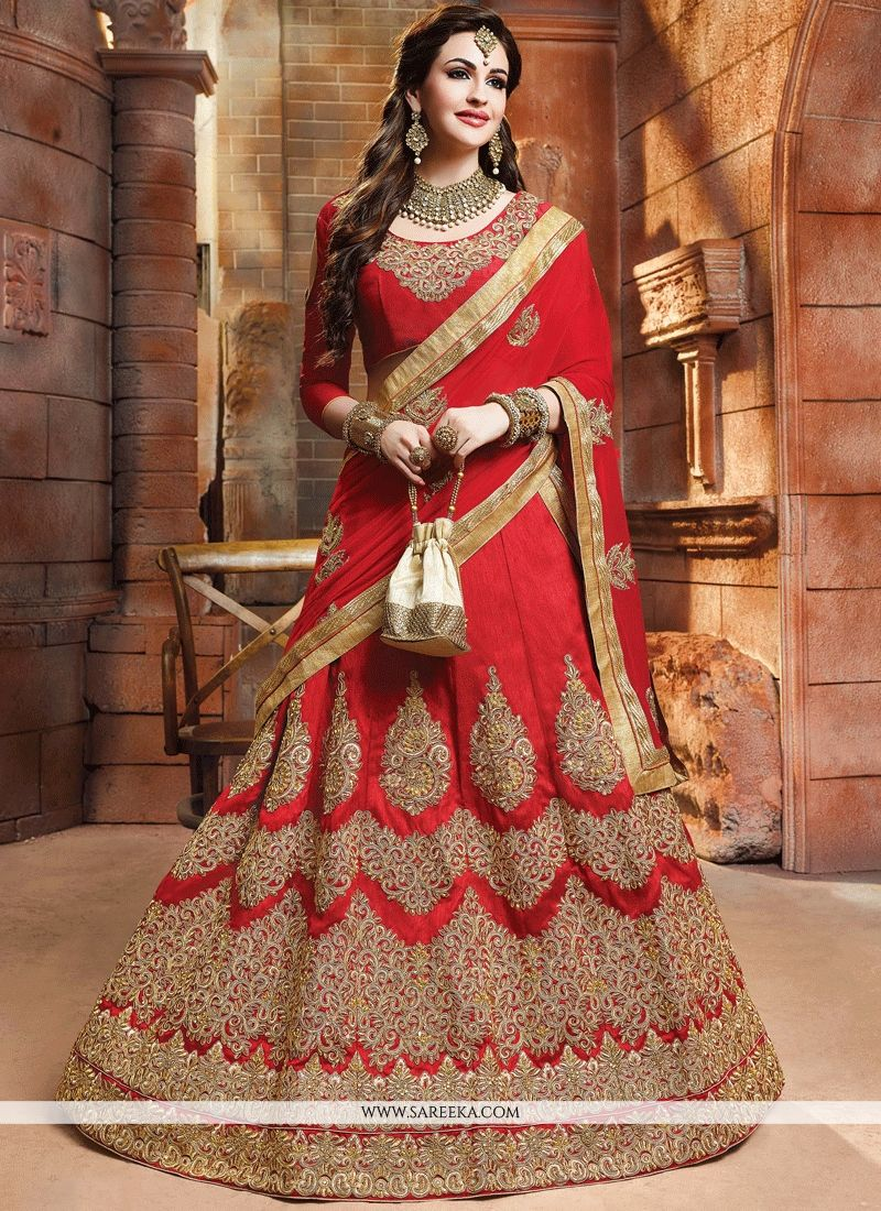 Art Silk Zari Work Lehenga Choli