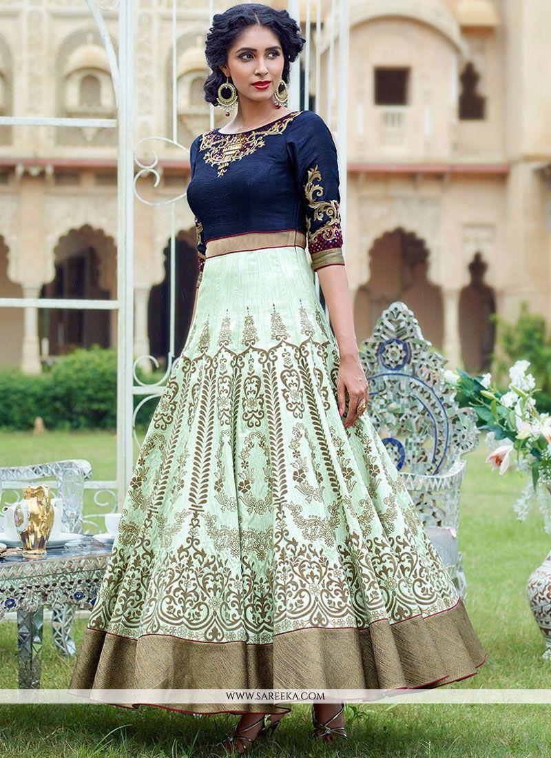 Banglori Silk Anarkali Salwar Kameez