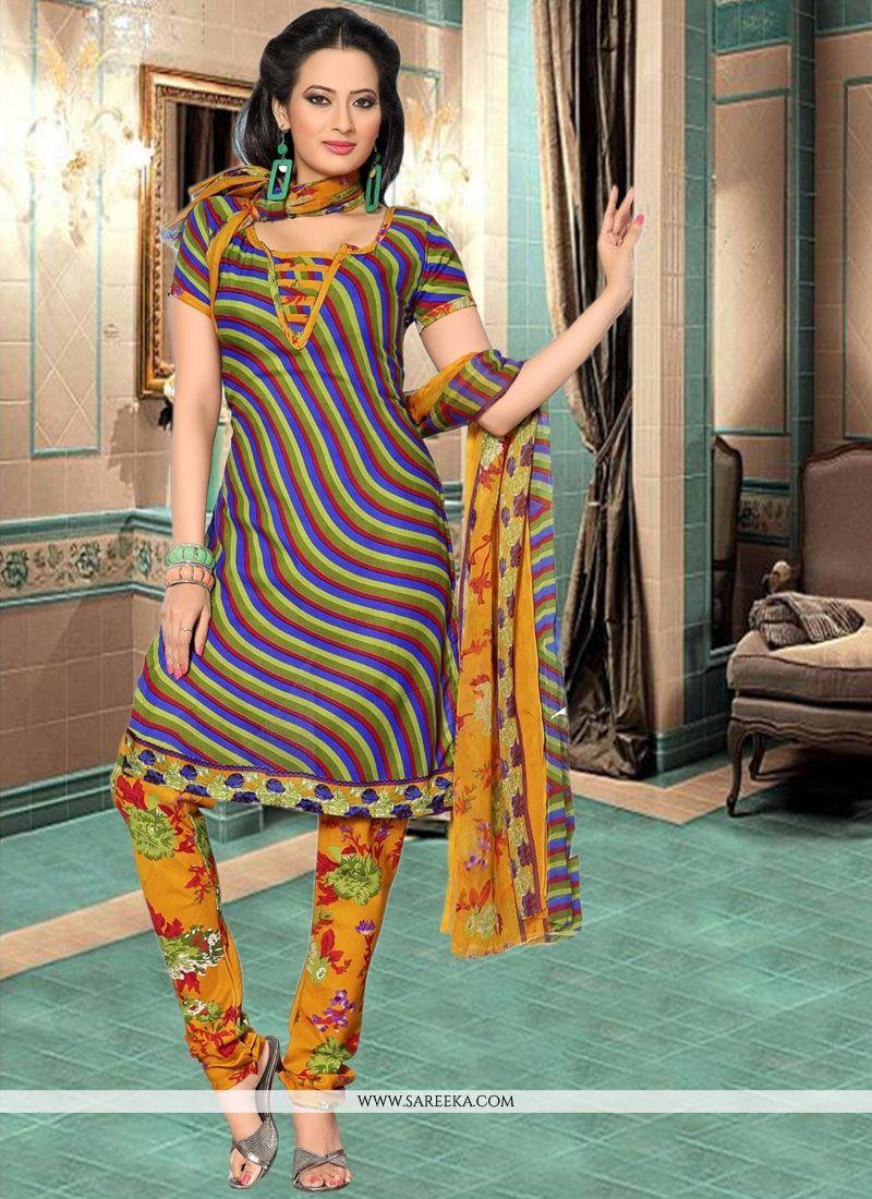 Multi Colour Churidar Suit