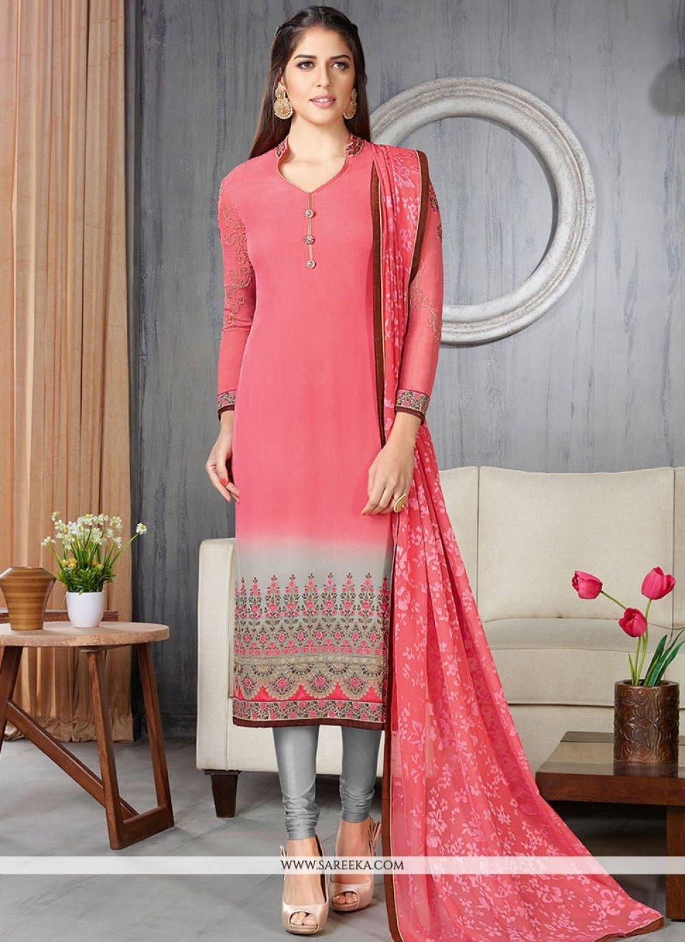 Lace Work Churidar Suit