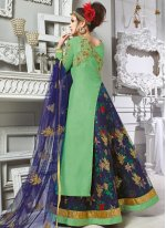 Banarasi Silk Designer Floor Length Suit