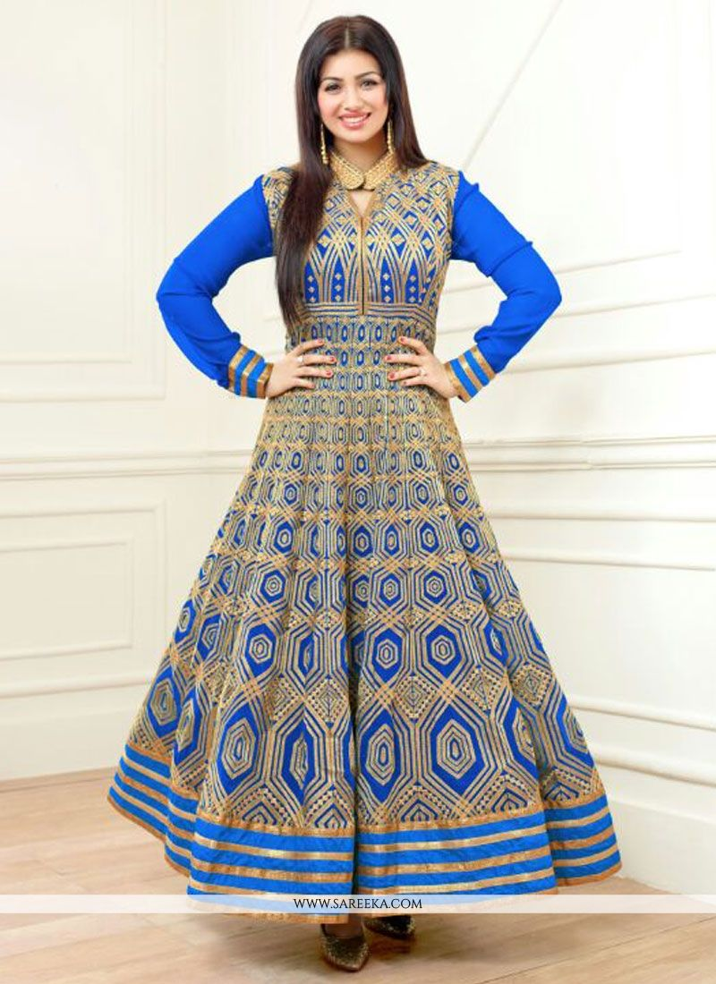 Buy Ayesha Takia Blue Anarkali Salwar Kameez Online : Indian ...
