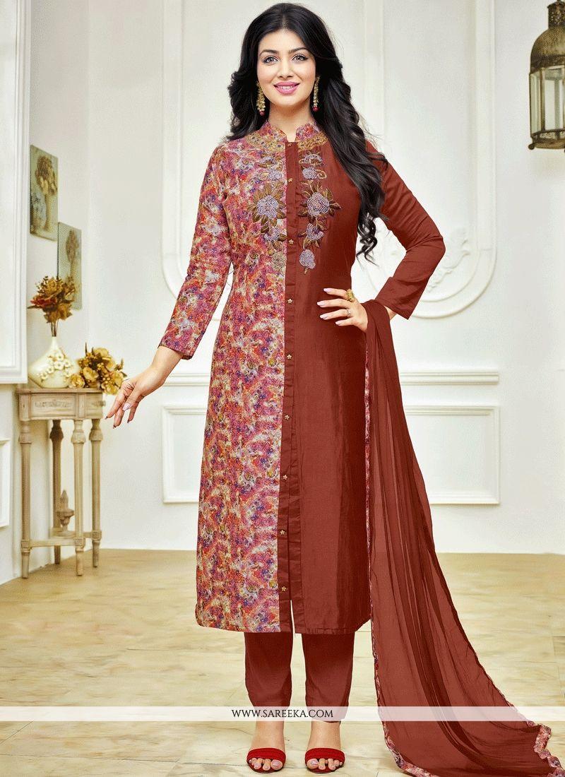 Ayesha Takia Brown Churidar Suit