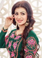 Ayesha Takia Diamond Work Green Faux Georgette Churidar Designer Suit