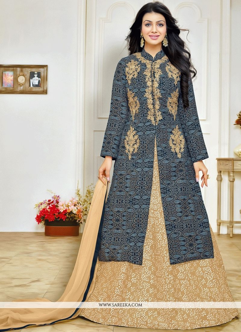 Ayesha Takia Embroidered Work Cotton   Long Choli Lehenga