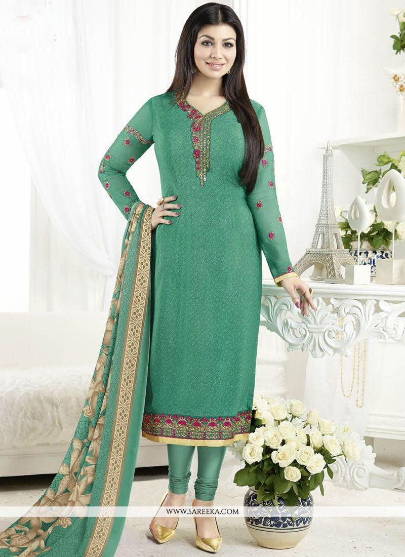 Buy Ayesha Takia Faux Crepe Churidar Designer Suit Online -