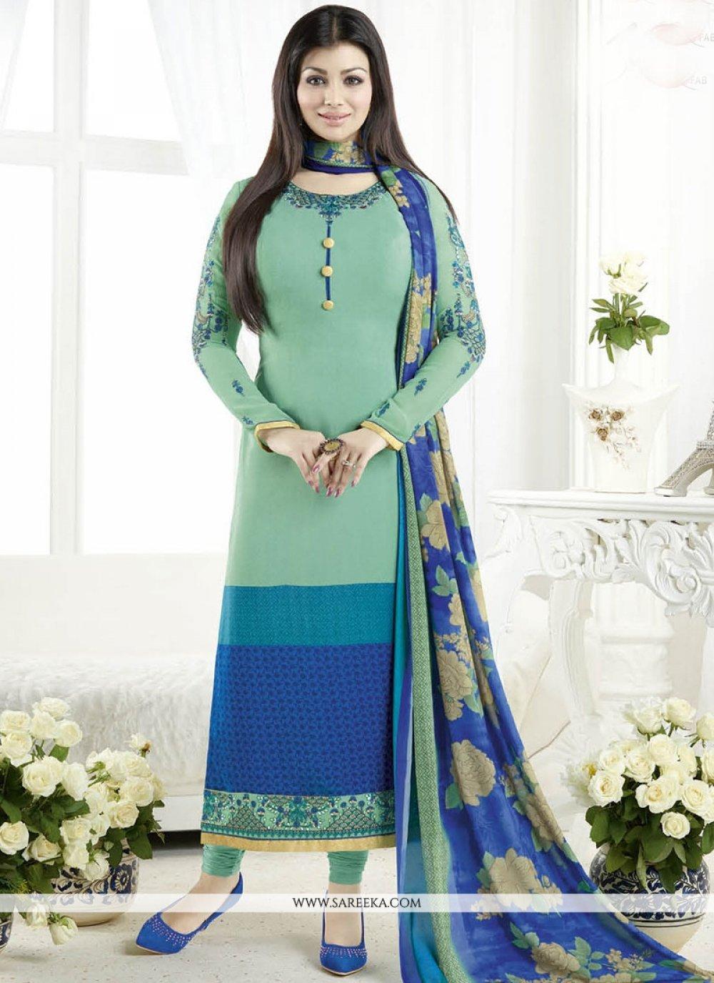 Ayesha Takia Faux Crepe Churidar Designer Suit