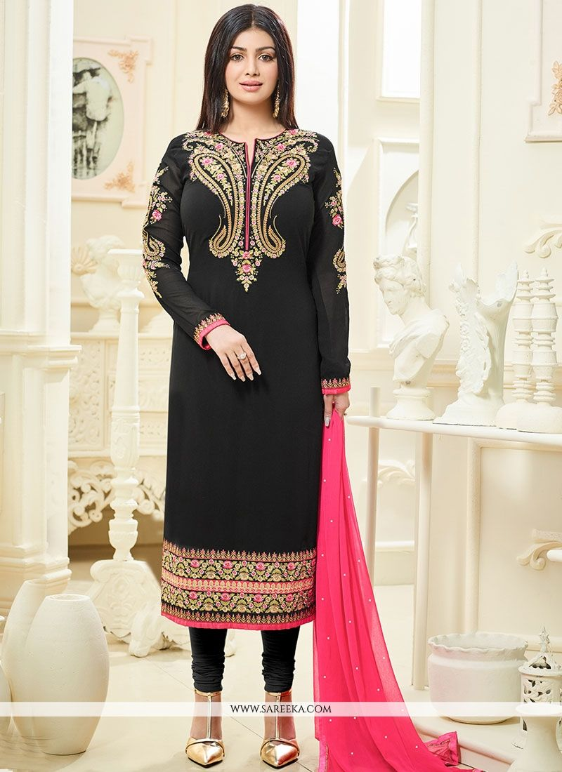 2ddfc28ff3 Buy Ayesha Takia Faux Georgette Churidar Designer Suit Online : Italy -