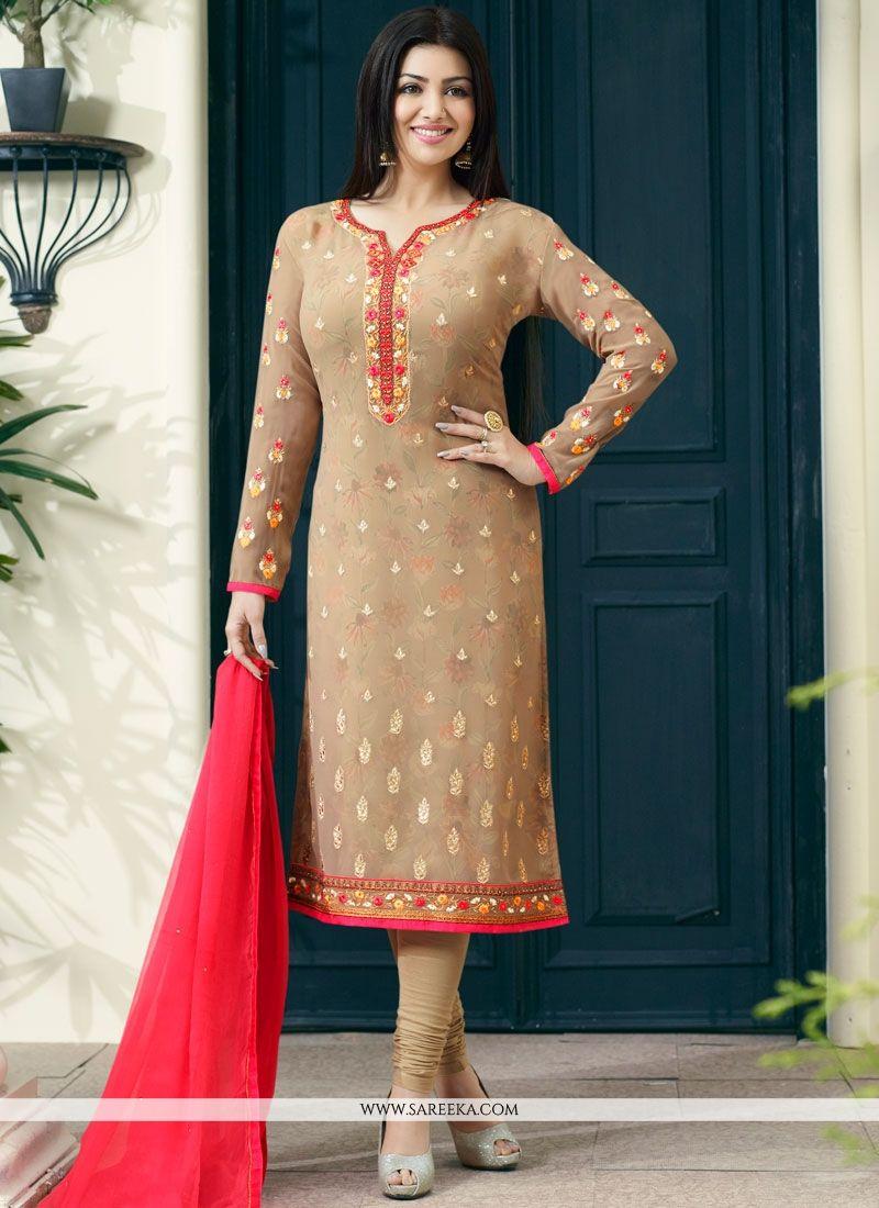 Ayesha Takia Faux Georgette Churidar Designer Suit