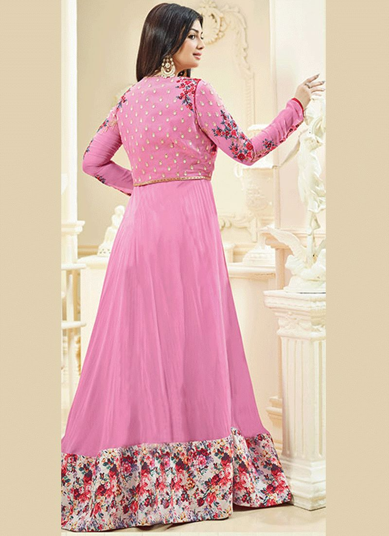 Buy ayesha takia faux georgette floor length anarkali suit for Floor length suits