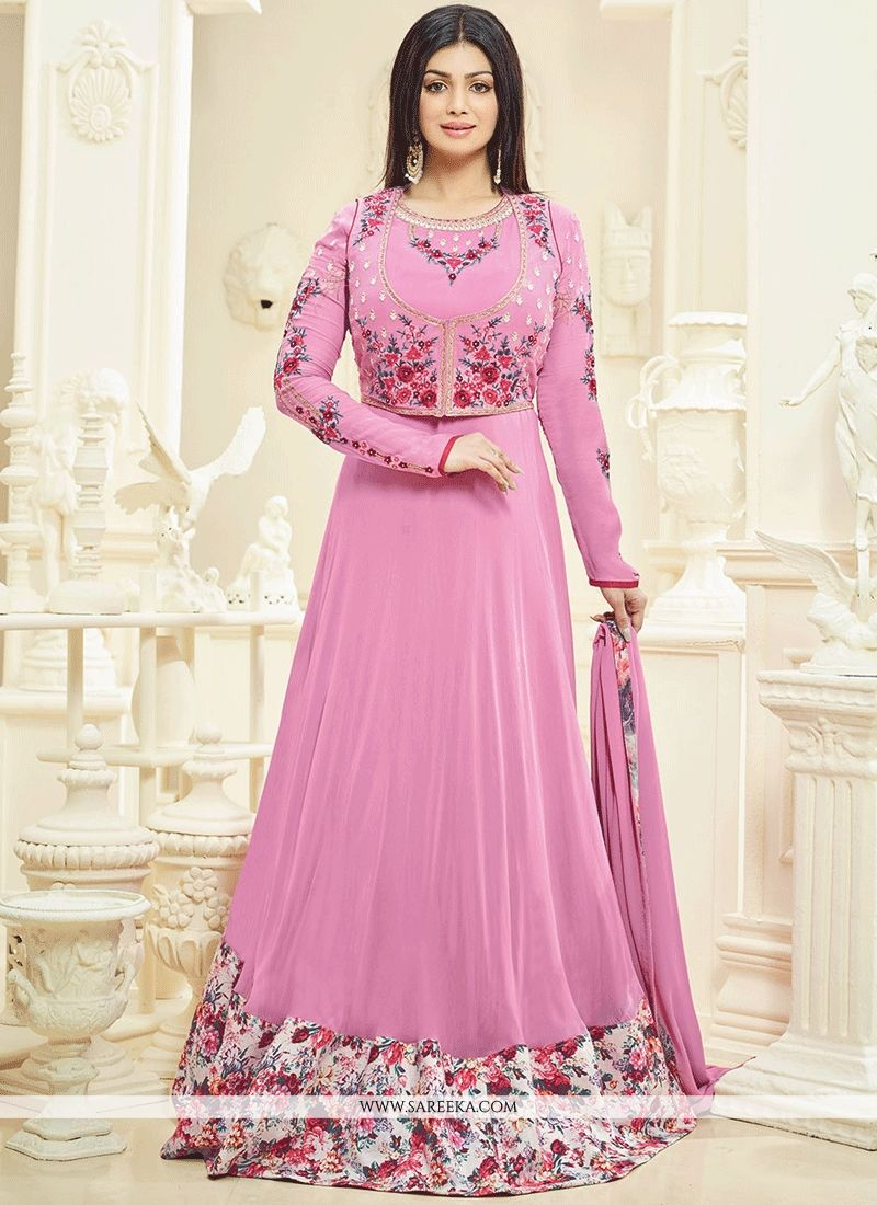 b3f3b34f17 Buy Ayesha Takia Faux Georgette Floor Length Anarkali Suit Online : 61112
