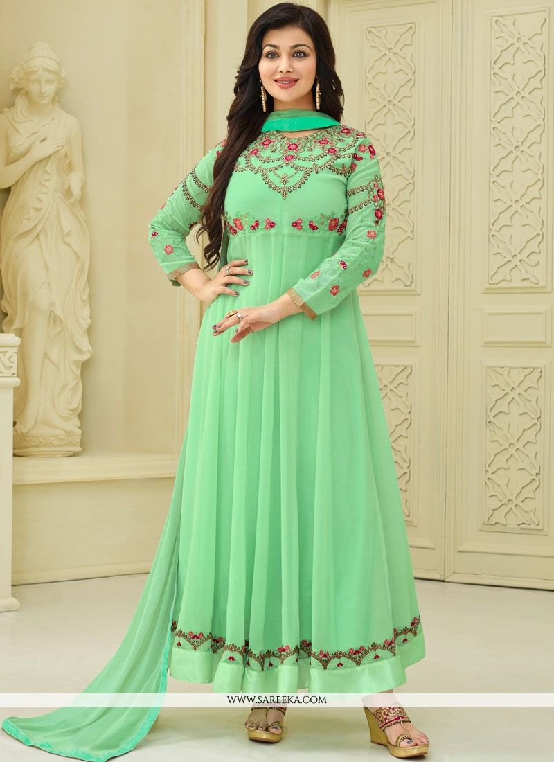 a44192b602 Buy Online Ayesha Takia Sea Green Anarkali Suit : 67002 -